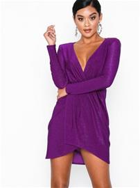 NLY One Structured Shoulder Dress Violetti