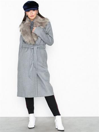 River Island Grey Robe Coat Grey