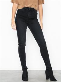 Noisy May Nmlexi Hw Skinny Ankzip Jeans VI876 Musta