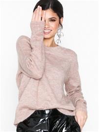 Object Collectors Item Objnete L/S Knit O-Neck Pullover Se Vaalea pinkki