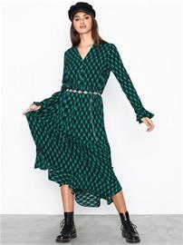 Y.A.S Yasgraffy Ls Dress Tummanturkoosi