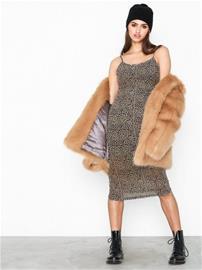 Glamorous Strappy Mesh Dress Leopard