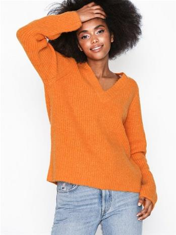 Object Collectors Item Objflorianna V-Neck Pullover a Au Oranssi