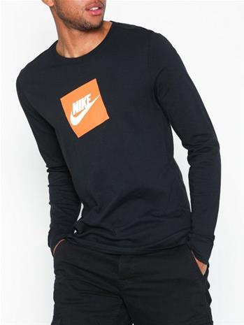 Nike Sportswear M Nsw Tee Ls Futura Box H Puserot Black/White