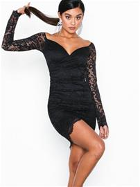 NLY One Wrap Lace Dress Musta