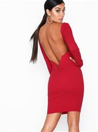NLY One Low V-bar Back Dress Punainen