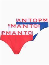 Topman Red Wht Ble Brf 3PK Bokserit Multicolor