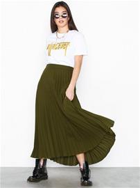 New Look Pleated Midi Skirt Khaki