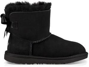 UGG Mini Bailey Bow II Kids Boots, Black 34