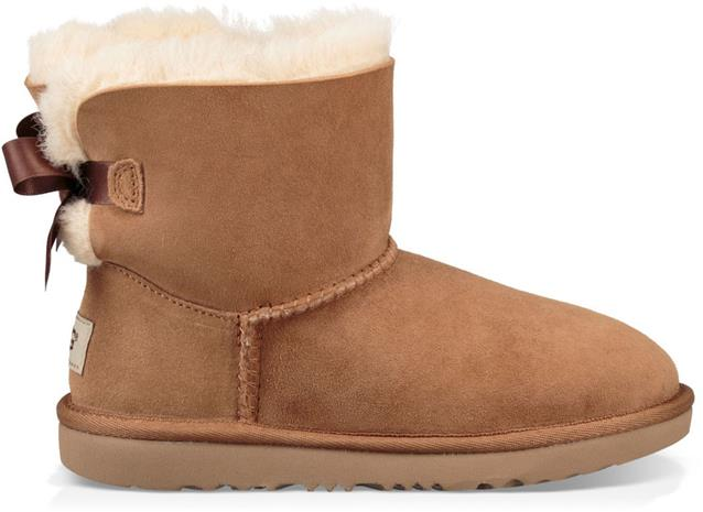 UGG Mini Bailey Bow II Kids Boots, Chestnut 31