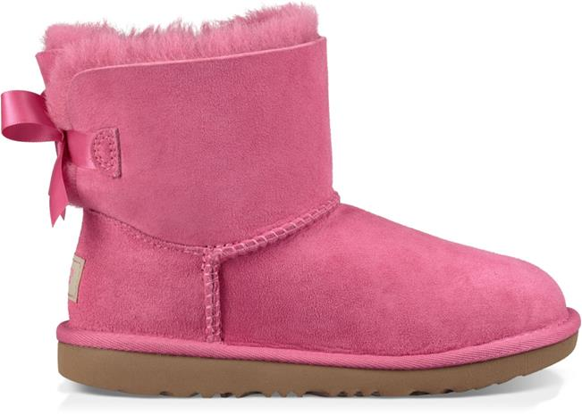 UGG Mini Bailey Bow II Kids Boots, Pink Azalea 34