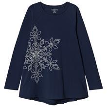 Navy Shimmer Snowflake Long Sleeve Top8-9 years