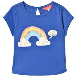 Blue Glitter Rainbow Print Tee1 year