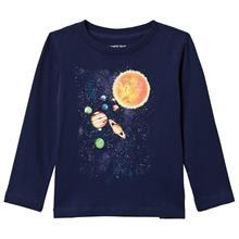Solar System Pitkähihainen T-paita Laivastonsininen4 years