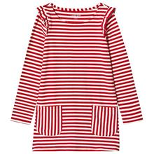 Red Mini Stripe Ruffle Shoulder Dress12-13 years