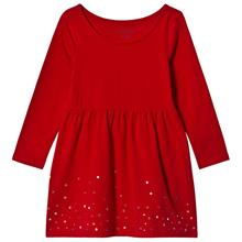 Red Rich Sequin Hem Gathered Jersey Dress2-3 years
