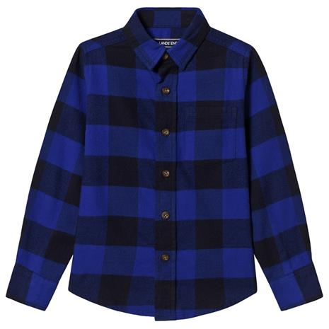 Blue Sapphire Check Long Sleeve Flannel Shirt4 years