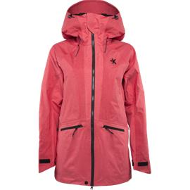 Everest W 3L RIDGE JACKET RED/DARK RED