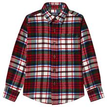 Red Multi Check Long Sleeve Flannel Shirt4 years