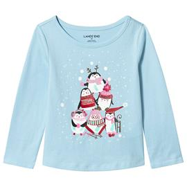 Blue Penguin Party Long Sleeve Tee18-24 months