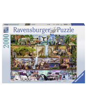 Ravensburger Wild Kingdom Shelves 2000p Palapeli
