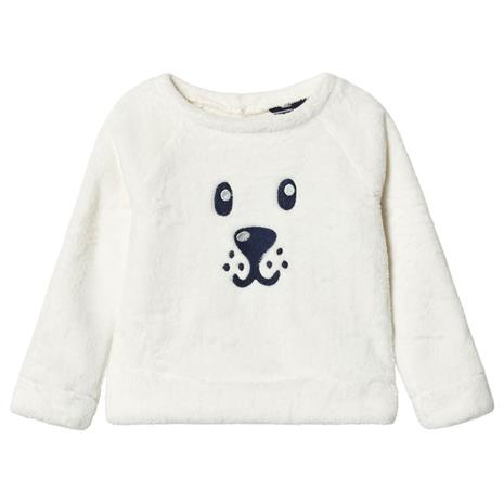 Cream with Sequin Face Cosy French Terry Sweatshirt18-24 months