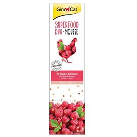 GimCat Superfood Duo-Mousse 10 x 21 g - kana, vadelma & hampunsiemenet