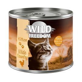 """Wild Freedom Kitten """"Wide Country"""" - vasikka & kana - 6 x 200 g"""
