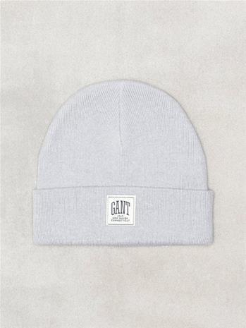 Gant O1. Solid Knit Hat Pipot Light Grey Melange