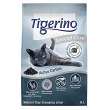 Tigerino Special Care -kissanhiekka - Active Carbon - säästöpakkaus 2 x 12 l