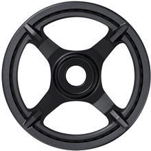 Shimano STEPS E6100 eturattaat Cl:46,5mm 1-vaihteisella ketjusuojalla , musta