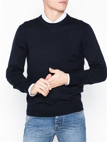 Filippa K M. Tuxedo Merino Sweater Puserot Navy