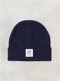 Gant O1. Solid Knit Hat Pipot Marine
