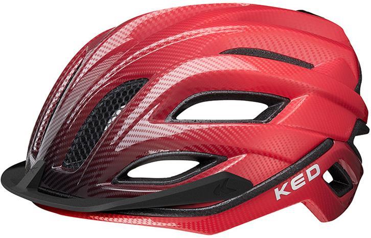 KED Champion Visor Pyöräilykypärä , punainen/musta