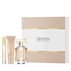 Hugo Boss The Scent For Her Lahjapakkaus, EdP 50 ml + Body Lotion 50 ml + Portable Spray 7,4 ml