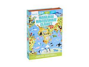 Oppi ja ilo Maailman mahtavimmat eläimet, kirja ja palapeli