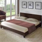 Corium® Moderni, tekonahalla verhoiltu parisänky 140x200 cm (tummanruskea)