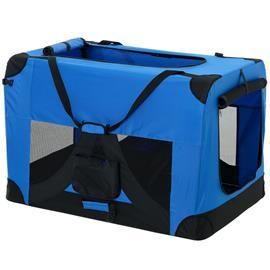 [pro.tec] Kissan / koiran kuljetuslaukku - kuljetuslaatikko (kuninkaansininen, XL)