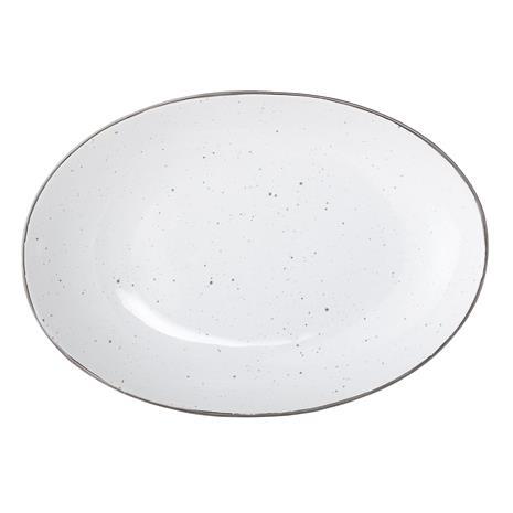 Emily Tarjoiluvati Valkoinen Kivitavaraa 30,5x21,5 cm, ServingPlate