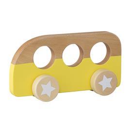 Leluauto Keltainen Puu 19x10cm, Toys