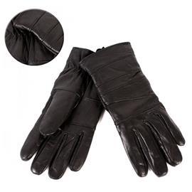 Svarta Dam Äkta Mjuka Läder handskar - Stl L