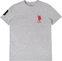 US Polo Assn. DHM T-Paita, Vintage Grey Heather 7-8 Vuotta
