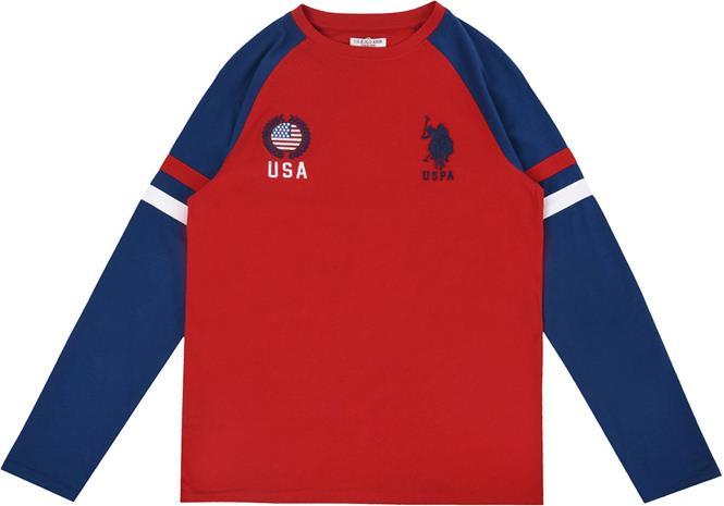 US Polo Assn. USA T-Paita, Deep Red 6-7 Vuotta