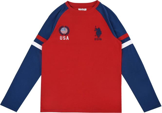 US Polo Assn. USA T-Paita, Deep Red 5-6 Vuotta
