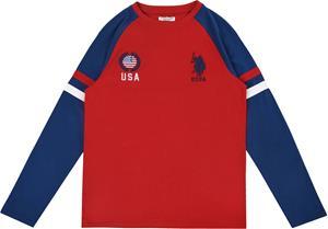 US Polo Assn. USA T-Paita, Deep Red 7-8 Vuotta