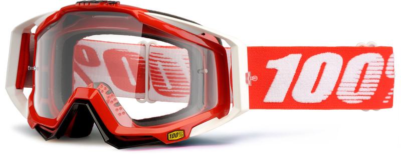 100% Racecraft Anti Fog Clear ajolasit dh , punainen