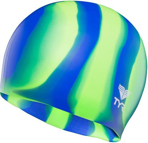 TYR Silicone uimalakki , vihreä/sininen