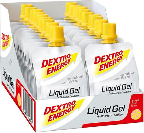 Dextro Energy Liquid Gel Urheiluravinto Grapefruit with Natrium 18 x 60ml