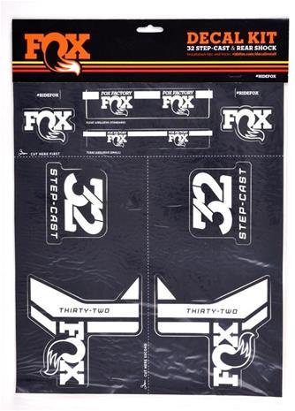 Fox Racing Shox Decal 2017 AM , harmaa/valkoinen