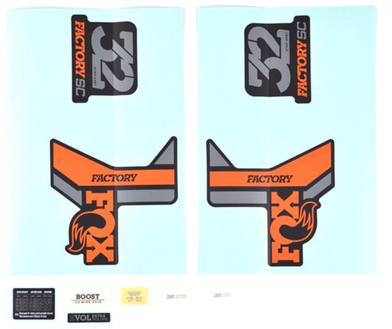 Fox Racing Shox Decal Kit 2018 32 SC F-S , oranssi/musta